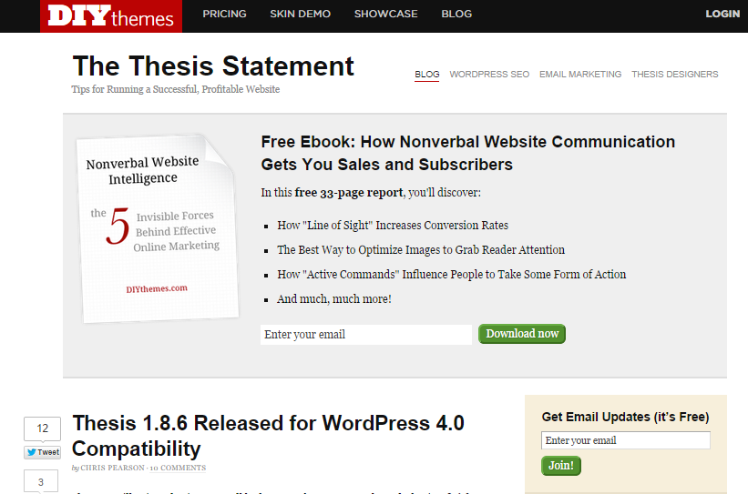 The Thesis Statement — Tips for Running a Successful Profitable Website