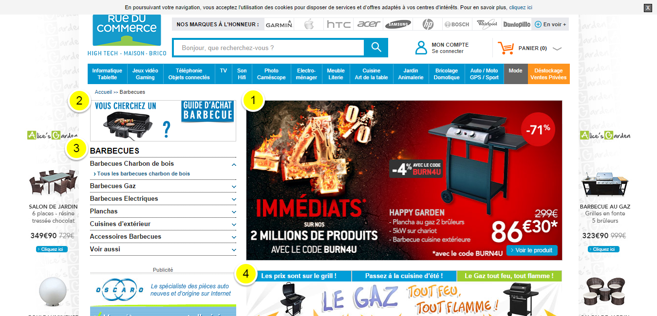 Vente barbecue - RueDuCommerce